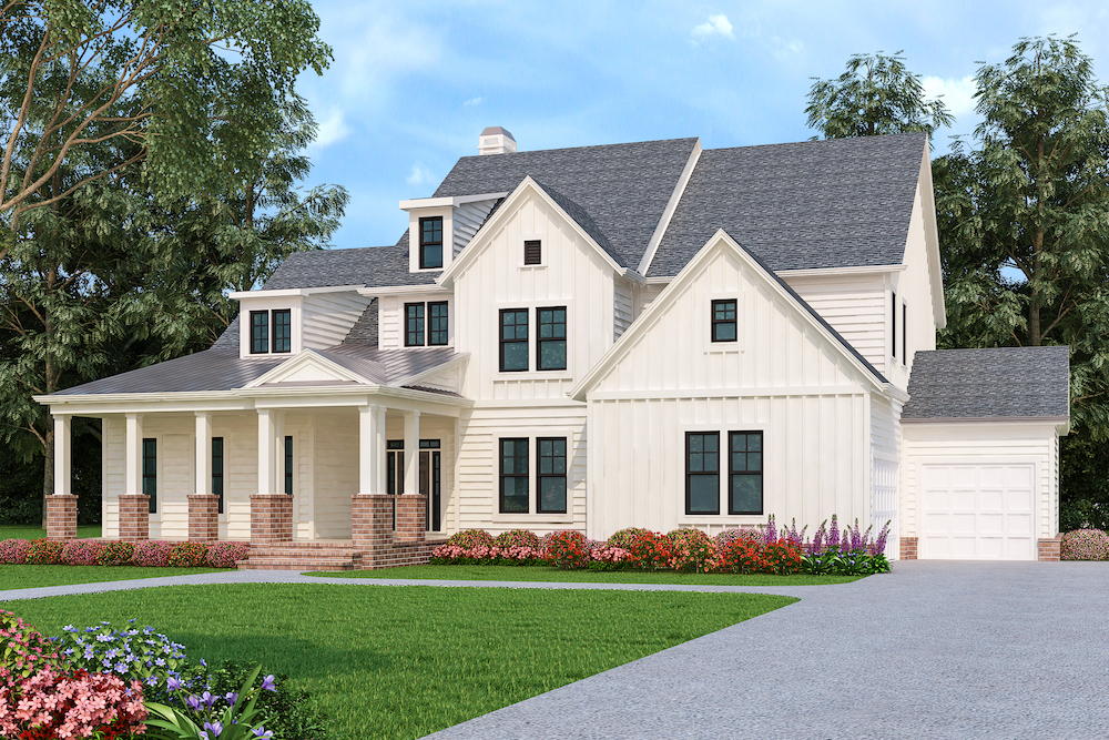 modern farmhouse Hennigan Place exterior rendering