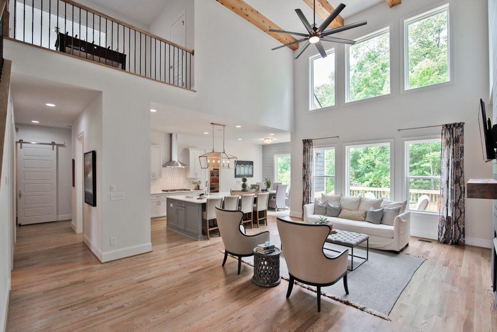 open-concept main living area